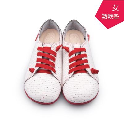 A MOUR經典手工鞋特色饅頭點白氣墊鞋平底嚴選布料超軟饅頭鞋DH-2718