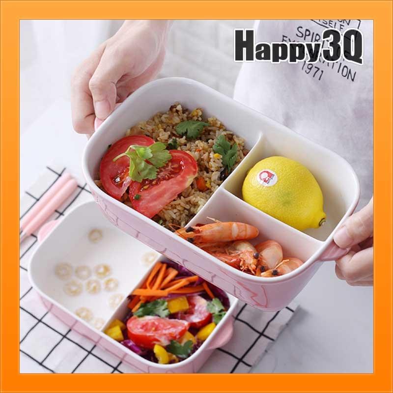 陶瓷便當盒長方形便當盒圓形便當盒便當袋餐具筷勺湯匙可微波【AAA2449】預購