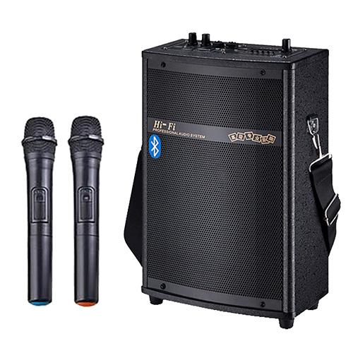 大聲公實用型無線式多功能行動音箱喇叭雙麥克風組無線麥克風教學擴音器