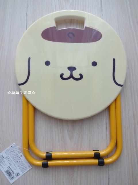 草莓牛奶屋日本進口Sanrio三麗鷗布丁狗POMPOMPURIN可愛折疊椅