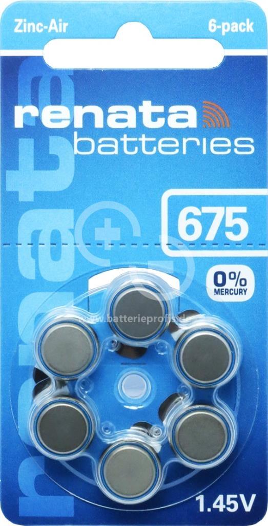 全館免運費【電池天地】德國RENATA助聽器電池 PR44 ZA675   一卡六入裝 1.4V