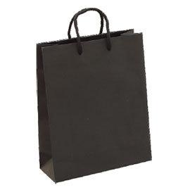 荷包袋手提紙袋大4K黑色無印方型