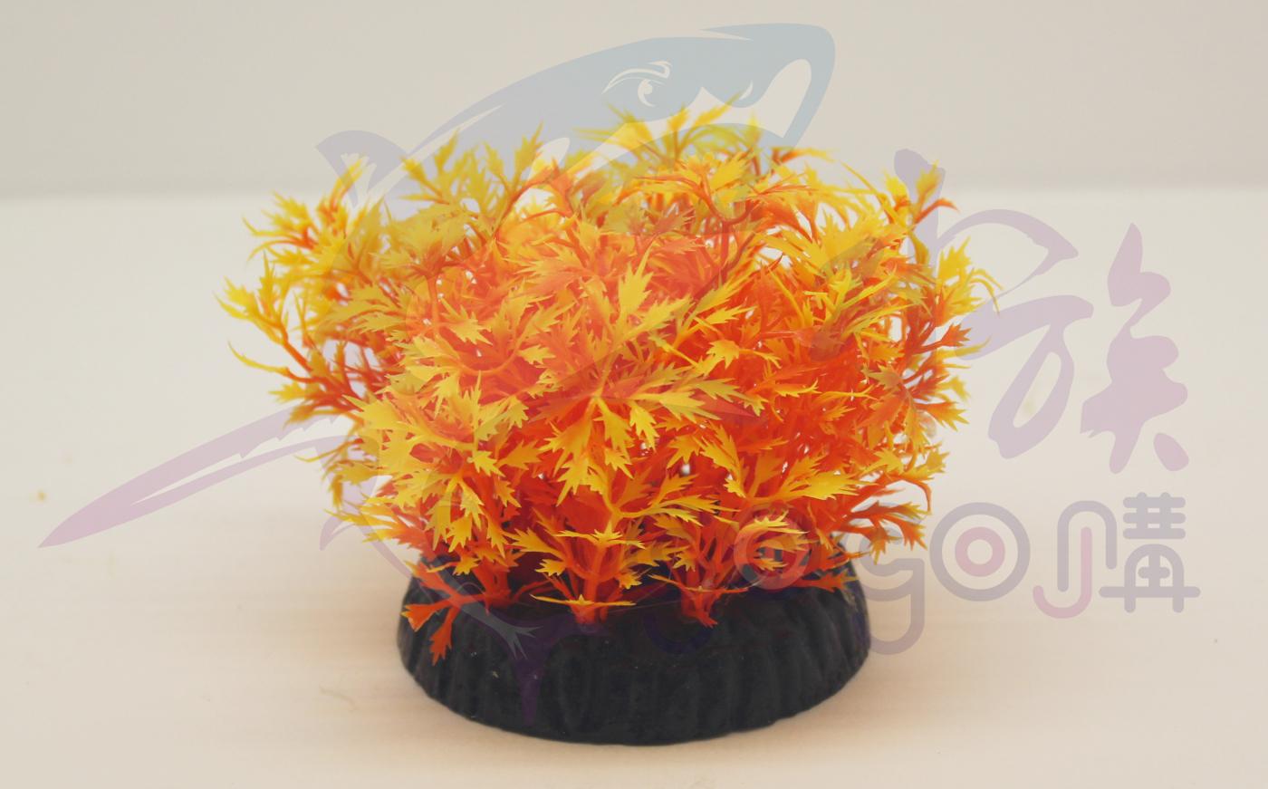 【AQ王國】AP- 0350 魚缸 裝飾品 造景 魚蝦躲藏 不打架 假水草3吋(底:5.8CM*高9.3CM)