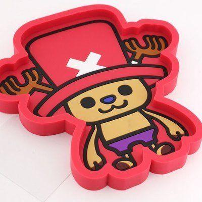 車之嚴選cars go汽車用品CE47日本ONE PIECE航海王海賊王喬巴橡膠置物盤收納盒