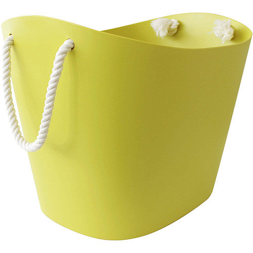 Sceltevie棉繩收納籃綠L