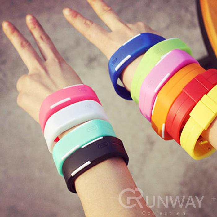 繽紛樂手環錶果凍錶LED運動輕防水韓版潮流女錶男錶對錶兒童錶糖果色