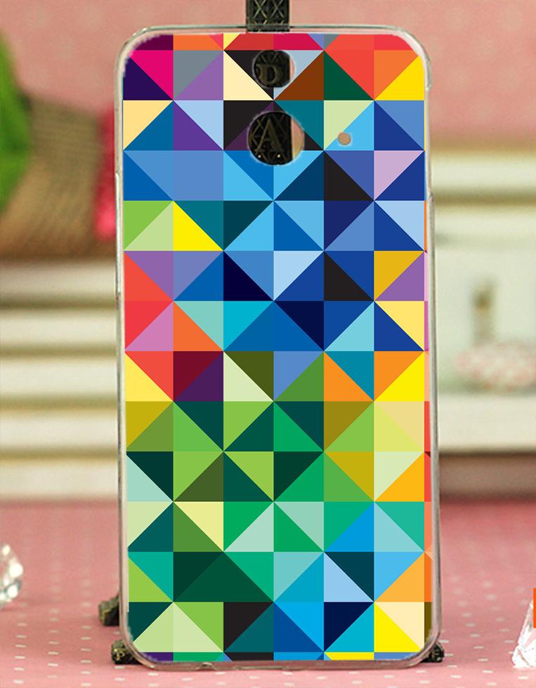 ✿ 3C膜露露 ✿ HTC One E8【彩色菱格紋*水晶硬殼 】手機殼 保護殼 保護套 手機套