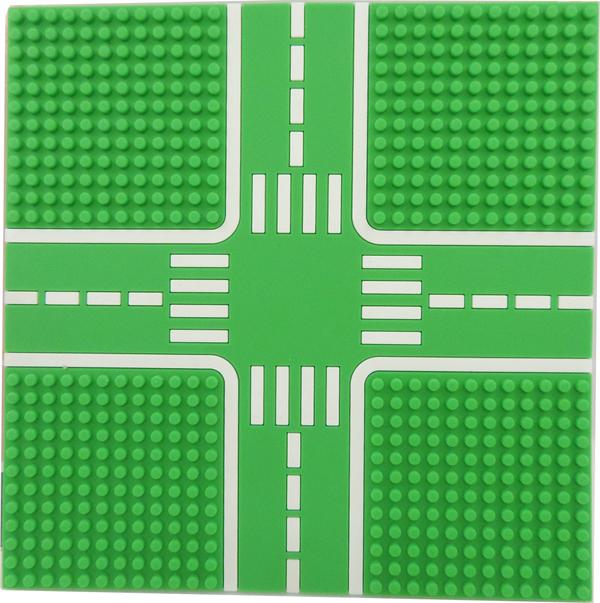Tico微型積木城市道路底板-公園綠T-9907-B