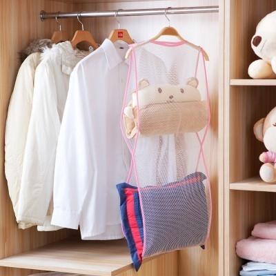 MY COLOR創意多用途晾曬網袋洗曬晾衣架好收納曬枕頭曬靠墊折疊輕巧便攜L17-4