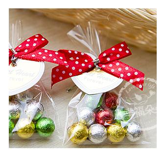 幸福朵朵排排站巧克力球糖果包10顆入二次進場來店禮創意喜糖慶生會婚禮小物