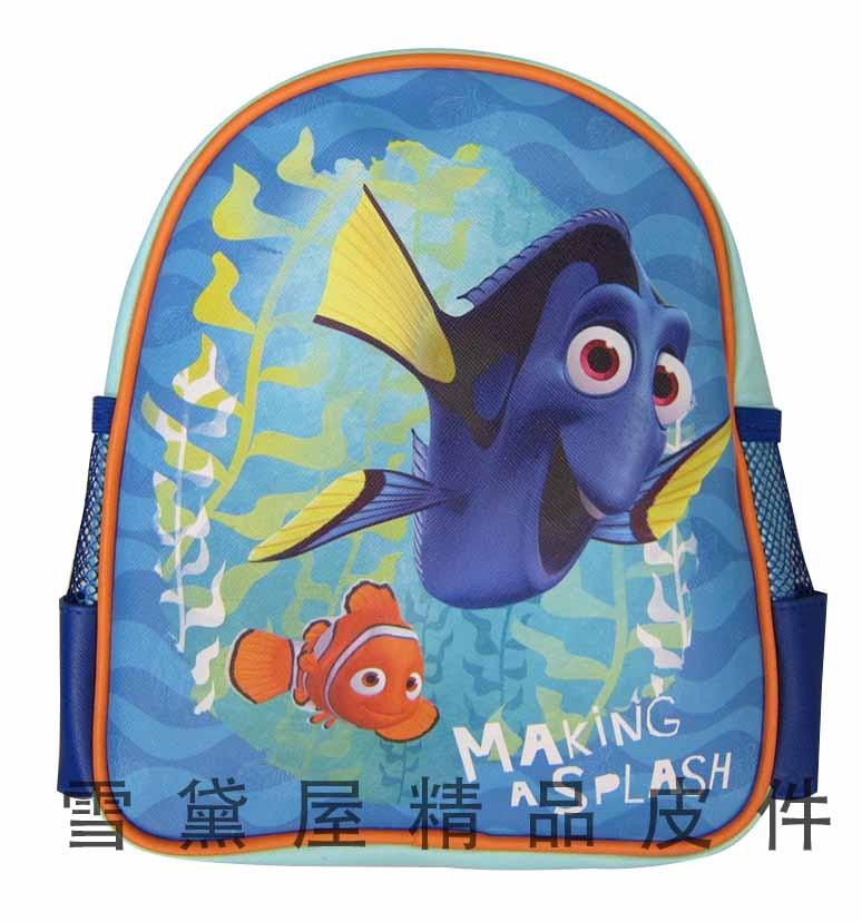 雪黛屋~海底總動員後背包一歲低幼年級適宜正版授權幼園書包附電燈鑰匙環防水皮革KFD275