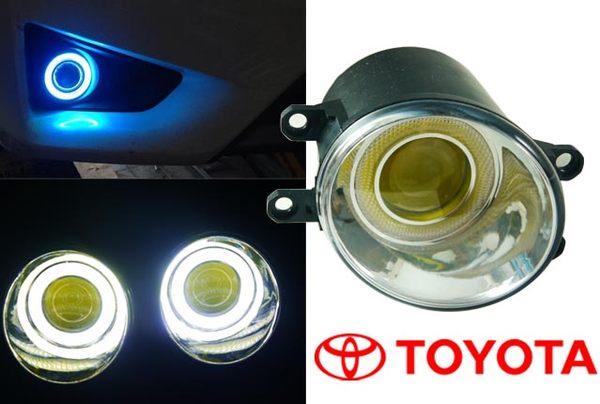 TOYOTA豐田專用COB LED光圈魚眼霧燈WISH ALTIS RAV4 YARIS PREVIA天使之眼霧燈