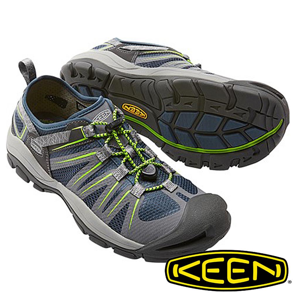 KEEN美國MCKENZIE II男護趾水陸兩用鞋深藍灰1016532健行水陸兩用鞋涼鞋自行車