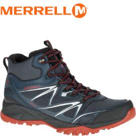 【MERRELL美國 男款 CAPRA BOLT MID GORE-TEX 黑 中筒登山鞋】登山鞋/休閒鞋/登山鞋/運動鞋/ML35719