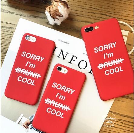 【SZ25】iphone 6s 手機殼 簡約紅色SORRY英文字母 iphone plus手機殼 iphone 7 plus手機殼 iphone 7 手機殼