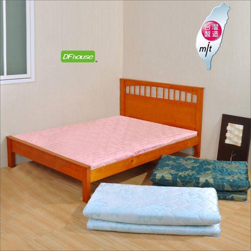 DFhouse黛爾夢5尺雙人緹花布透氣床墊三色孟宗竹單人床雙人床床架床組透氣舒適床墊