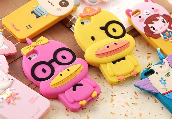 【世明國際】黃色小鴨iPhone 4/4S/5 大黃鴨 果凍套 保護套 手機套 手機殼 眼鏡鴨 i4/ i4s/ i5