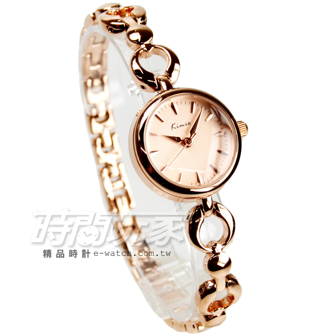 Kimio金米歐簡約氣質手鍊型腕錶防水手錶手鍊錶細手環玫瑰金電鍍女錶K6203全玫