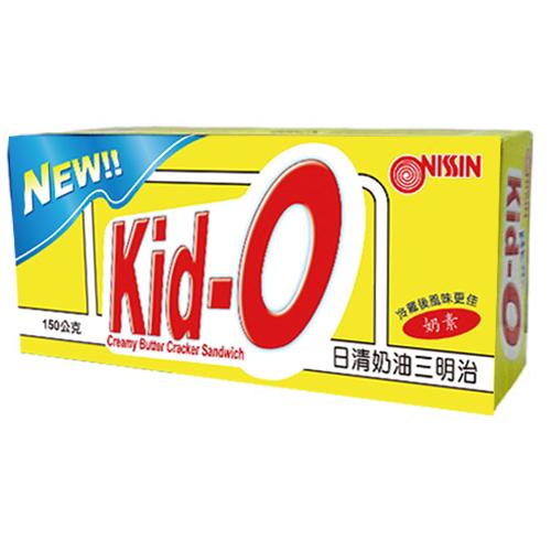 日清Kid-O三明治餅乾-奶油口味150g愛買