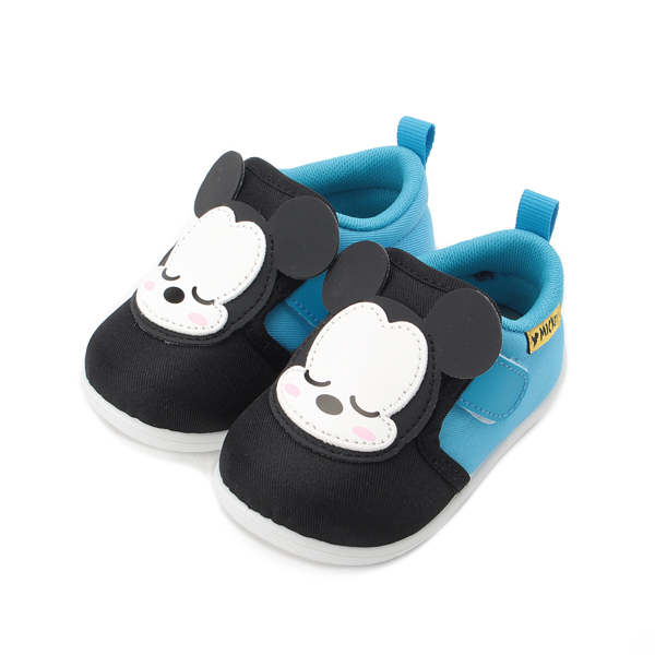 DISNEY 米奇小睡造型寶寶鞋 黑藍 中小童鞋 鞋全家福