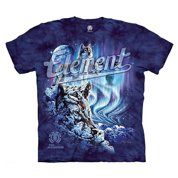 摩達客預購美國進口The Mountain x Element滑板系列隱藏元素純棉環保短袖T恤10415045163