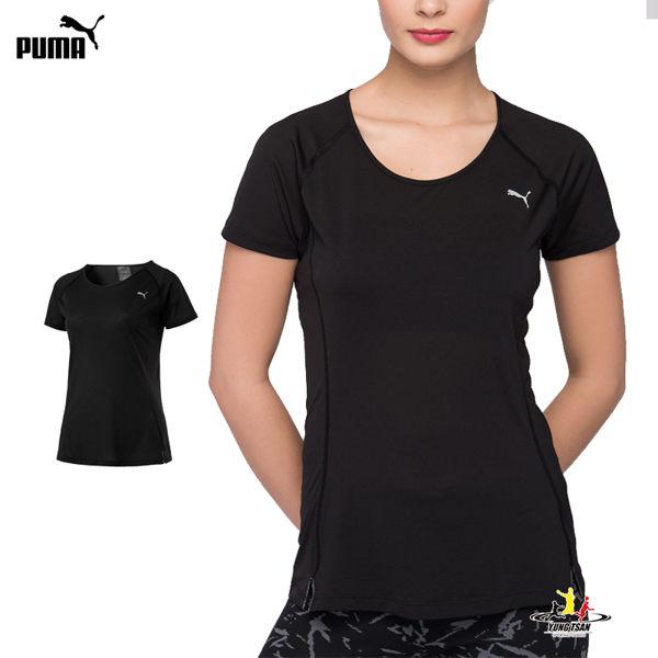 Puma Core-Run 女 黑 短袖 上衣 慢跑衣 訓練系列 短袖T恤 透氣 排汗 休閒 運動 瑜珈 51646601