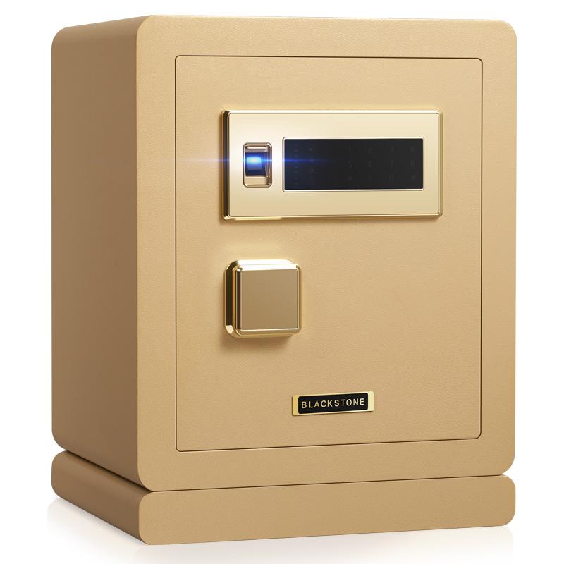 指紋保險櫃家用小型辦公防盜保險箱家用小型指紋床頭保管箱tw