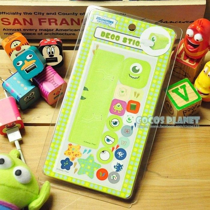 迪士尼裝飾貼紙怪獸大學大眼仔IPHONE豆腐充貼紙插頭貼紙COCOS PL055
