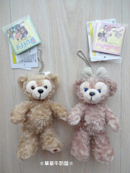 草莓牛奶屋日本進口東京迪士尼Disney Sea達菲熊Duffy&ShellieMay絨毛吊飾