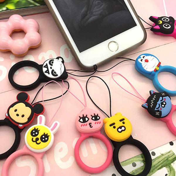 SZ34 iPhone 7手機掛繩卡通指環短掛件鑰匙小掛飾品日本相機矽膠防摔iPhone7 plus