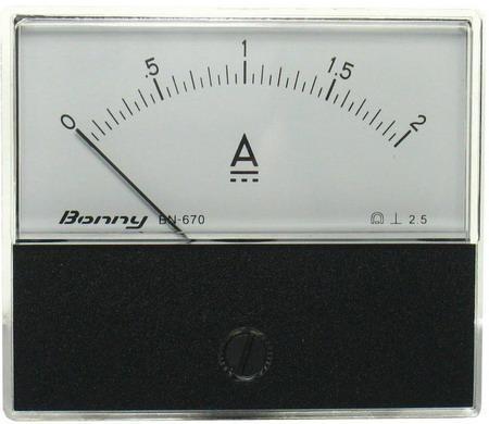 DC2A 670指針式工業用直流電流錶頭