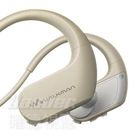 曜德買一送三SONY NW-WS413象牙白4GB防水極限運動數位隨身聽免運送收納盒耳塞絨布袋