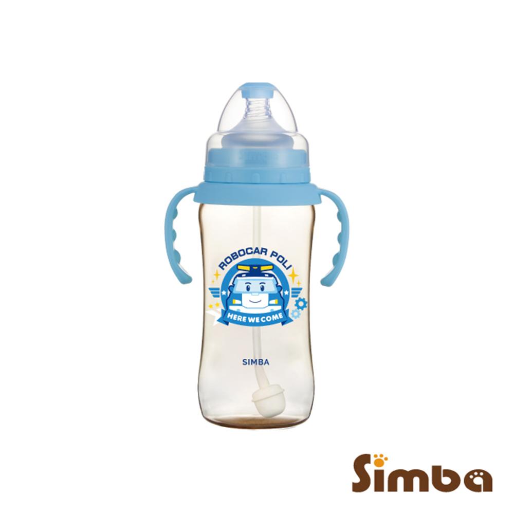 小獅王辛巴 波力PPSU自動把手寬口葫蘆大奶瓶(360ml)