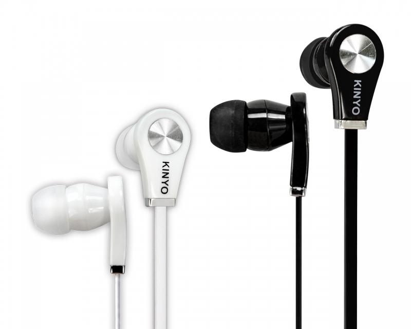 鼎立資訊KINYO時尚造型柔軟耳塞式耳機手機平板電腦MP3皆可使用黑白兩色廣