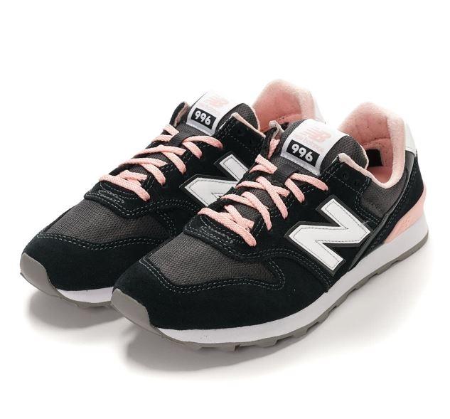 New Balance 女款經典復刻休閒鞋 黑粉-NO.WR996ACK