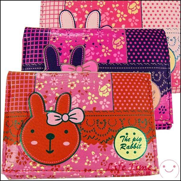 【一生流行館】日本風/日式風蝴蝶結兔子花花點點造型三折皮夾/短夾【B10608】