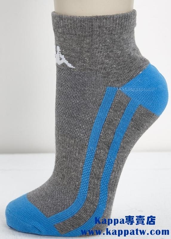 Kappa男生踝襪-淺麻灰珊瑚藍薄底SM66-M232-7
