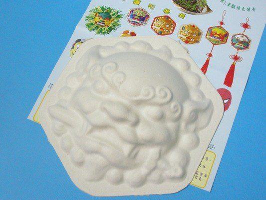 彩繪獅頭面具空白獅頭面具DIY手繪面具六角獅頭MIT製一個入定40