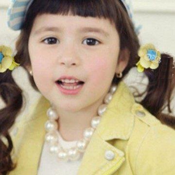 UNICO  韓版 兒童花朵髮繩/髮圈/飾品/髮飾