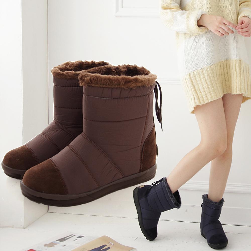 短靴防潑水太空保暖麂皮短靴香榭