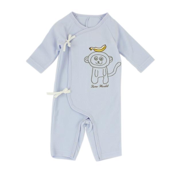 【愛的世界】小猴子搖粒絨長袖綁帶連身衣/3個月-台灣製- ★幼服推薦