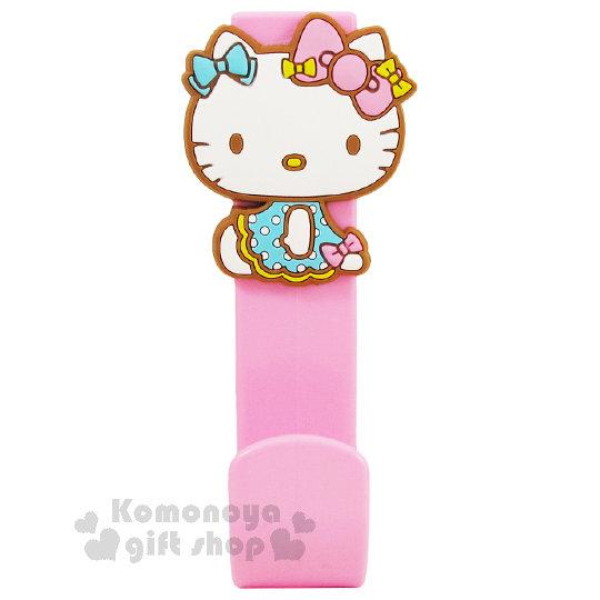 〔小禮堂〕Hello Kitty 造型門板掛勾《粉.裙裝.側坐.泡殼》耐重3kg 8021780-05863