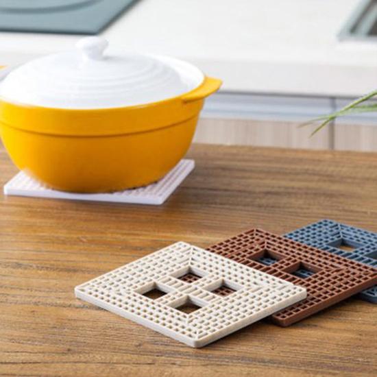 米菈生活館J53-1創意方格可摺疊桌墊隔熱杯墊桌墊碗墊鍋墊廚房桌面煲湯餐桌居家