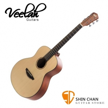 Veelah旅行吉他mini camper 36吋旅行小吉他MC-M雲杉面單板木吉他大小同GS Mini附原廠Veelah吉他袋