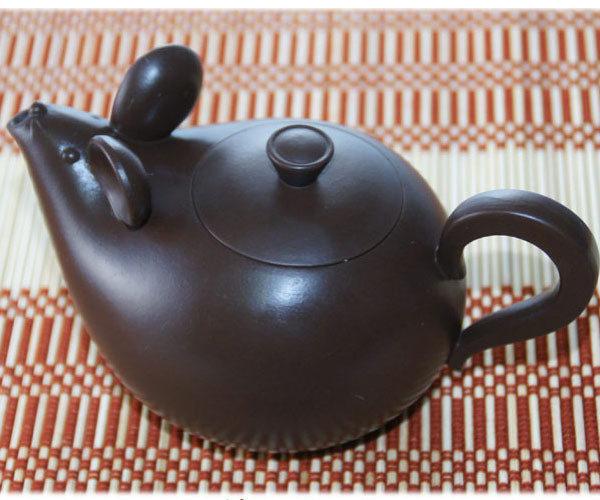 鹿港窯~ 意象紫砂茶壺【鼠來寶】◆ 免運費送到家