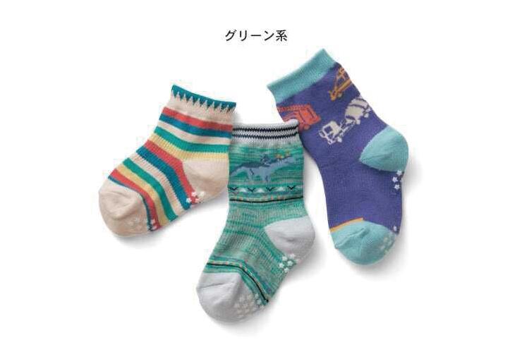 [韓風童品] (3雙/組)秋冬新款 水泥車 恐龍 小花防滑點膠襪 兒童防滑襪 寶寶襪 兒童襪子襪子