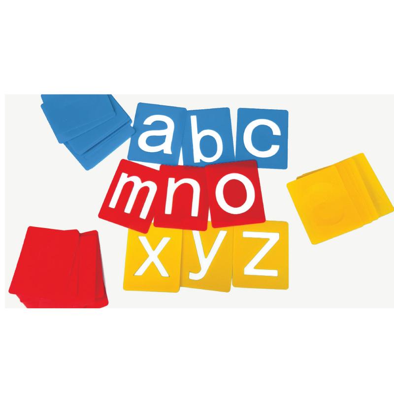 小型字母範本-小寫英文字母 兒童幼兒教具教學道具彩繪著色畫圖用具綜合活動藝術人文