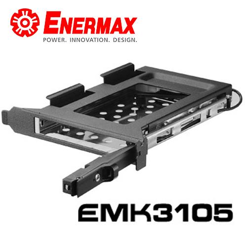 保銳ENERMAX EMK3105內接式2.5吋硬碟抽取盒安裝於PCI slot