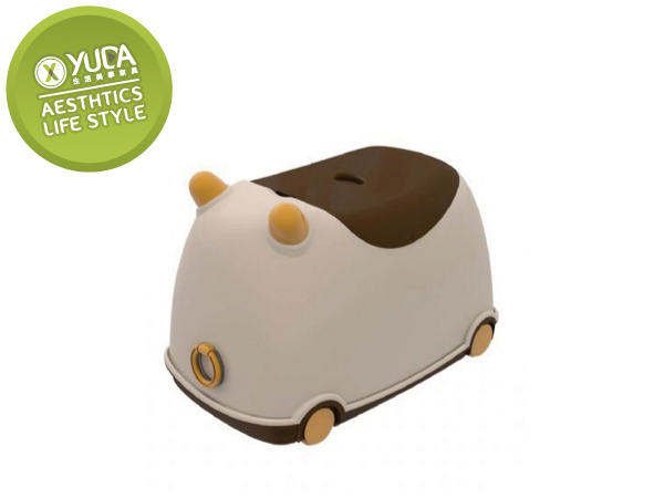 YUDA樹德櫃CB-25牛BUBU玩具收納車多功能置物箱收納箱收納車三色隨機配送
