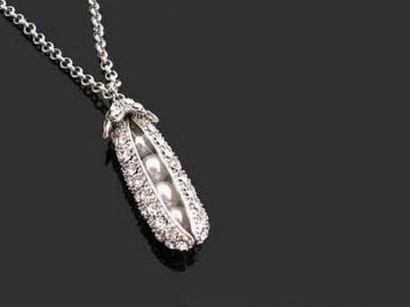 簡約 豌豆 亮晶晶 閃亮 項鍊 閃光 女 穿搭 項鍊 配鏈 耳環